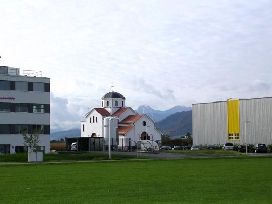 L'église de la paroisse serbe de Berne, dans la commune de Belp.