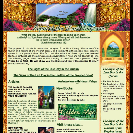 Signs of the Last Days: un site islamique