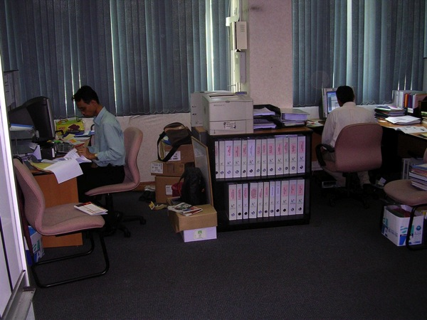Dans les bureaux de Darul Arqam.