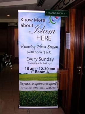 Annonce d'une conférence pour découvrir l'Islam à Darul Arqam