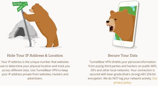 Les ours de TunnelBear expliquent pourquoi utiliser un VPN.